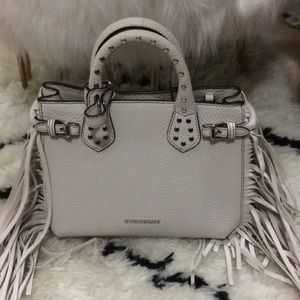 7b301604bb2e Burberry Bags - Burberry Leather Studs Fringe Baby Banner Bag